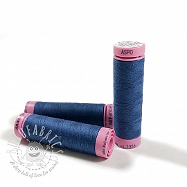 Polyester thread Amann Aspo 120 prussian blue
