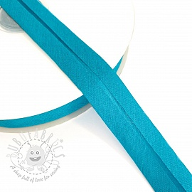 Bias binding cotton aqua