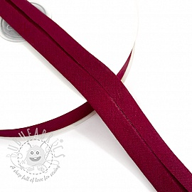 Bias binding cotton bordeaux