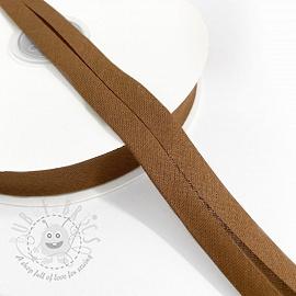 Bias binding cotton brown