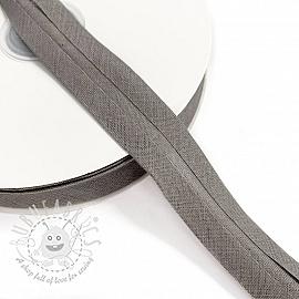 Bias binding cotton grey