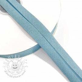 Bias binding cotton light blue