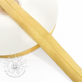 Bias binding cotton light yellow