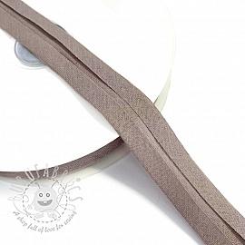 Bias binding cotton taupe