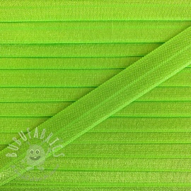 Bias binding elastic 15 mm neon green