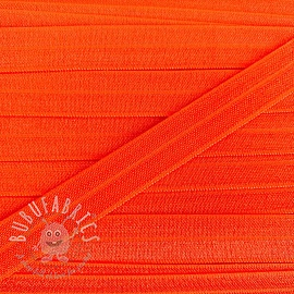Bias binding elastic 15 mm neon orange
