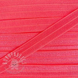 Bias binding elastic 15 mm neon pink