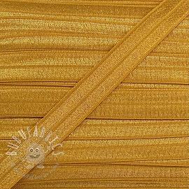 Bias binding elastic 15 mm ochre