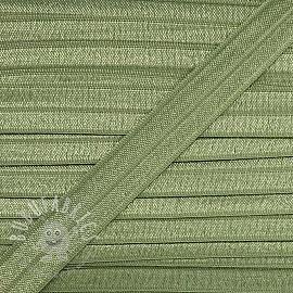 Bias binding elastic 15 mm old green