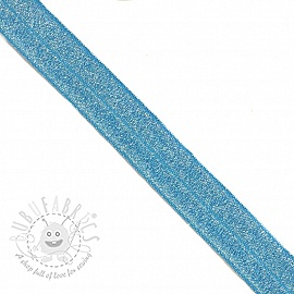 Bias binding elastic glitter 20 mm blue