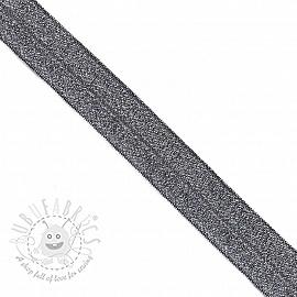 Bias binding elastic glitter 20 mm marine