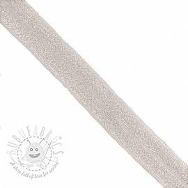 Bias binding elastic glitter 20 mm nude
