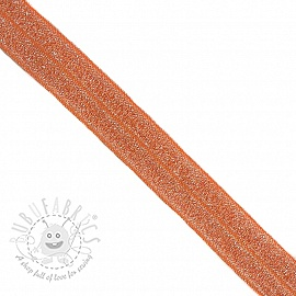 Bias binding elastic glitter 20 mm orange