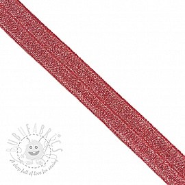 Bias binding elastic glitter 20 mm red