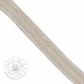 Bias binding elastic glitter 20 mm sand