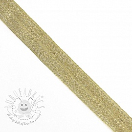 Bias binding elastic glitter 20 mm yellow