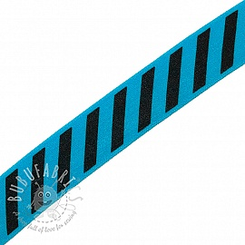 Bias binding elastic STRIPE 20 mm aqua