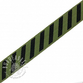 Bias binding elastic STRIPE 20 mm army