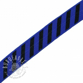 Bias binding elastic STRIPE 20 mm cobalt