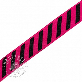 Bias binding elastic STRIPE 20 mm fuchsia
