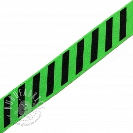 Bias binding elastic STRIPE 20 mm green