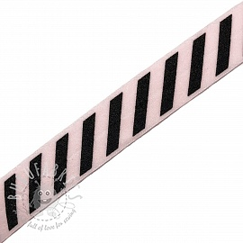 Bias binding elastic STRIPE 20 mm light pink