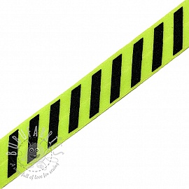 Bias binding elastic STRIPE 20 mm lime