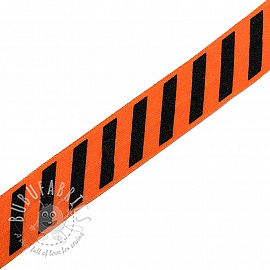 Bias binding elastic STRIPE 20 mm orange