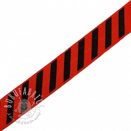 Bias binding elastic STRIPE 20 mm red