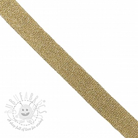 Bias binding LUREX light gold