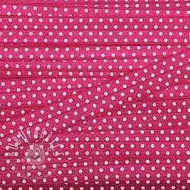 Bias binding elastic 15 mm Dots fuchsia