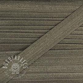 Bias binding elastic 15 mm grey