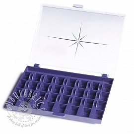 Bobbin box for 32 sewing machine bobbins