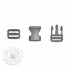 Bum Bag Clip 25 mm grey