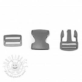 Bum Bag Clip 38 mm grey