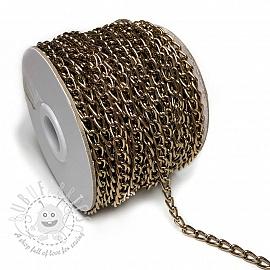 Coat Hanging Chain Loop 5 mm dark gold