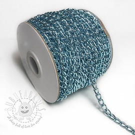 Coat Hanging Chain Loop 5 mm old blue