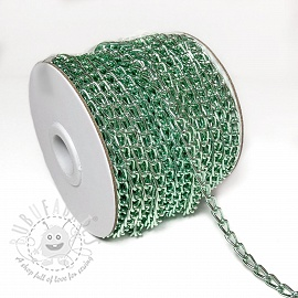Coat Hanging Chain Loop 5 mm old green