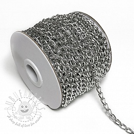 Coat Hanging Chain Loop 5 mm silver