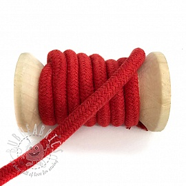 Cotton cord 10 mm red