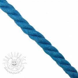 Cotton cord 2,5 cm aqua