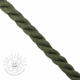 Cotton cord 2,5 cm army
