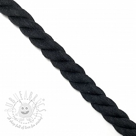 Cotton cord 2,5 cm black