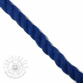 Cotton cord 2,5 cm cobalt