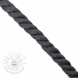Cotton cord 2,5 cm dark grey