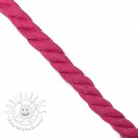 Cotton cord 2,5 cm fuchsia