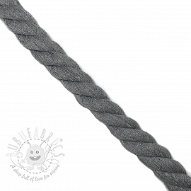 Cotton cord 2,5 cm light grey