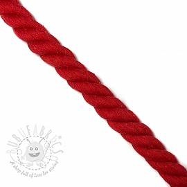 Cotton cord 2,5 cm red