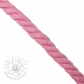 Cotton cord 2,5 cm rose