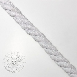 Cotton cord 2,5 cm white